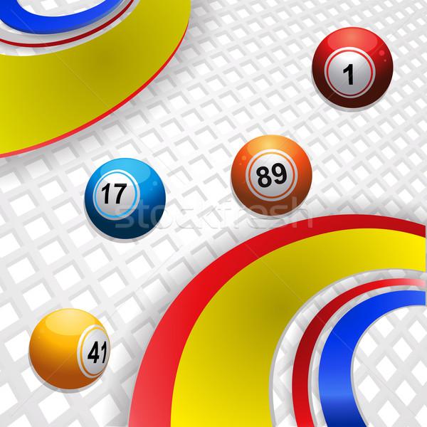Sokszínű örvény bingó golyók színek örvények Stock fotó © elaine