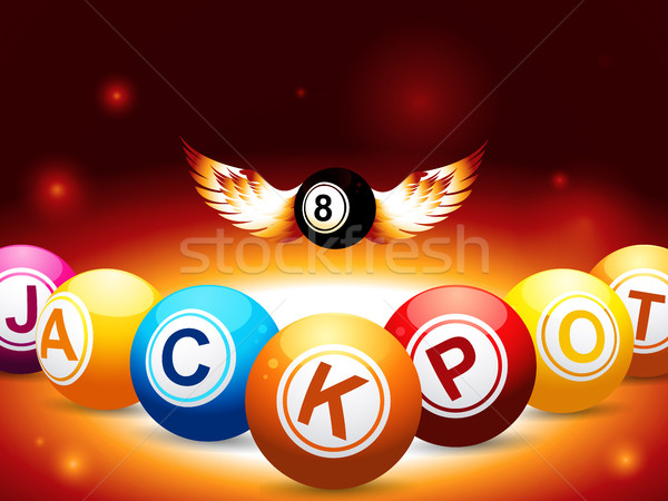 Jackpot nombre ailes bingo Photo stock © elaine