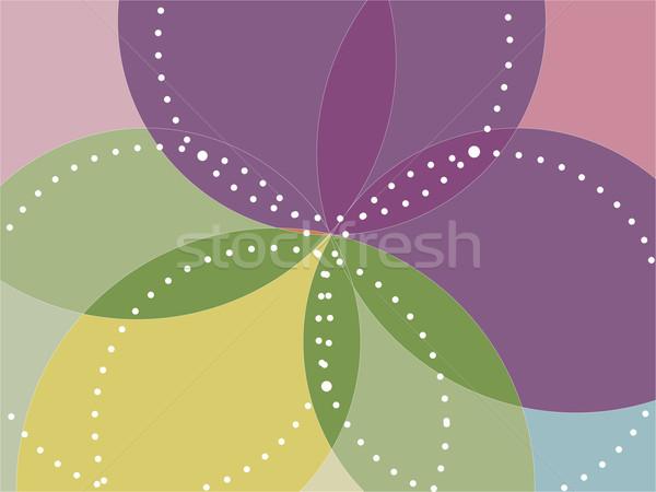 Abstrato caleidoscópio flor verde padrão Foto stock © elaine