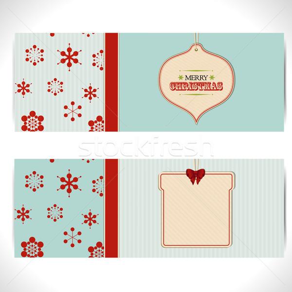 Navidad banner etiquetas dos cartón Foto stock © elaine