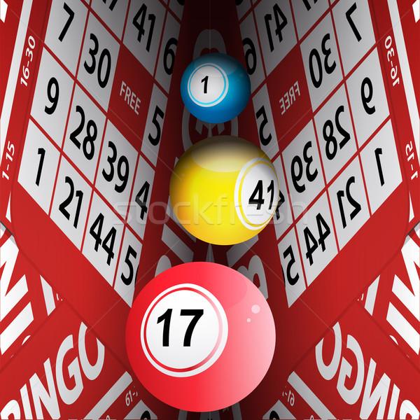 Bingo cartões túnel azul bola Foto stock © elaine