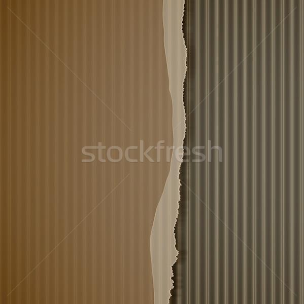 torn corrugated cardboard Stock photo © elaine