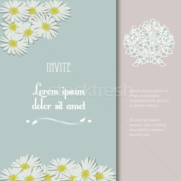 Invite with flowers and sample text Stock photo © elaine