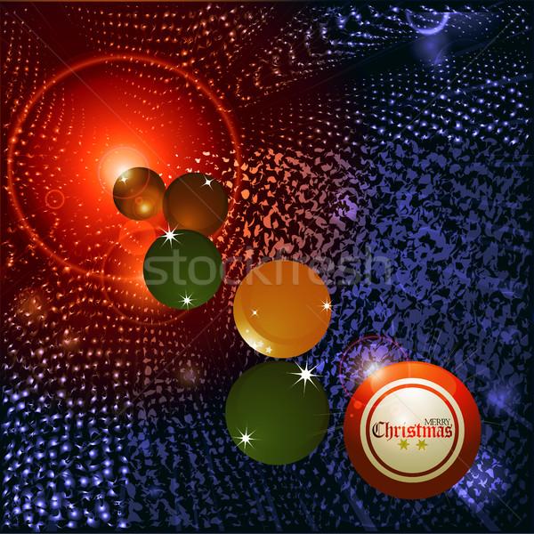 Christmas bingo piłka streszczenie czerwony niebieski Zdjęcia stock © elaine