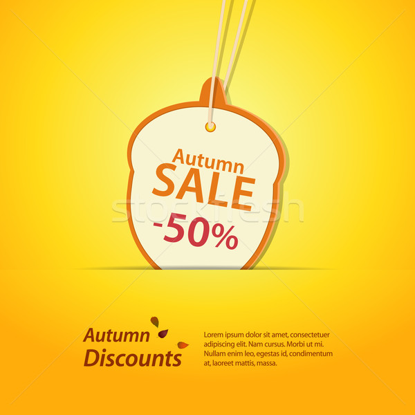 autumn acorn discount label Stock photo © elaine