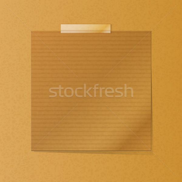 Nota textura papel de estraza tarjeta cinta Foto stock © elaine