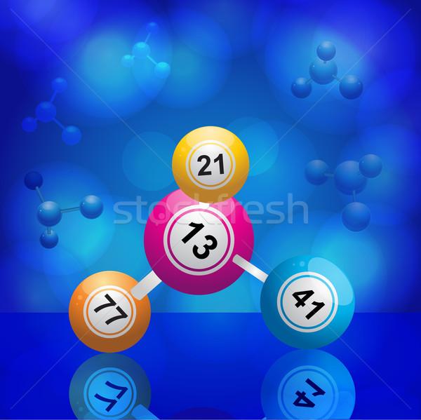 Bingo azul bola jogo Foto stock © elaine