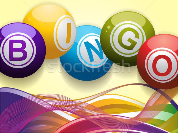 Bingo golven gekleurd Blauw Stockfoto © elaine