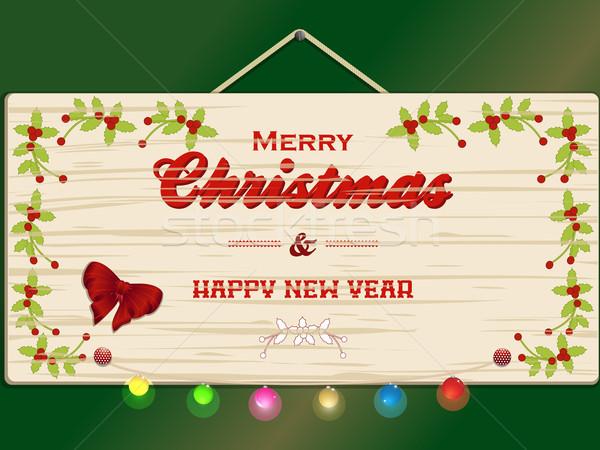 Vrolijk christmas nieuwjaar feestelijk lichten Stockfoto © elaine