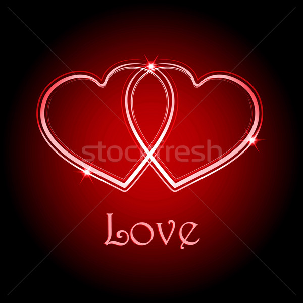 Interlocked love hearts background Stock photo © elaine