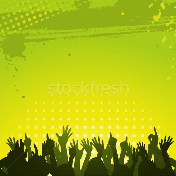 Abstract groene menigte silhouet mensen Stockfoto © elaine