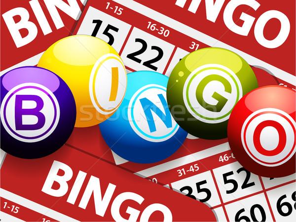 Bingo Rood kaarten achtergrond Stockfoto © elaine
