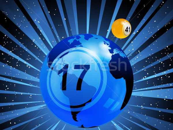 Planet earth with bingo lottery number in the space Stock photo © elaine