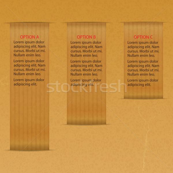 Hartie de ambalaj trei optiuni comunicare vector Imagine de stoc © elaine