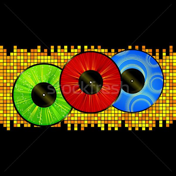 Bakelit kép mozaik lemezek piros zöld Stock fotó © elaine