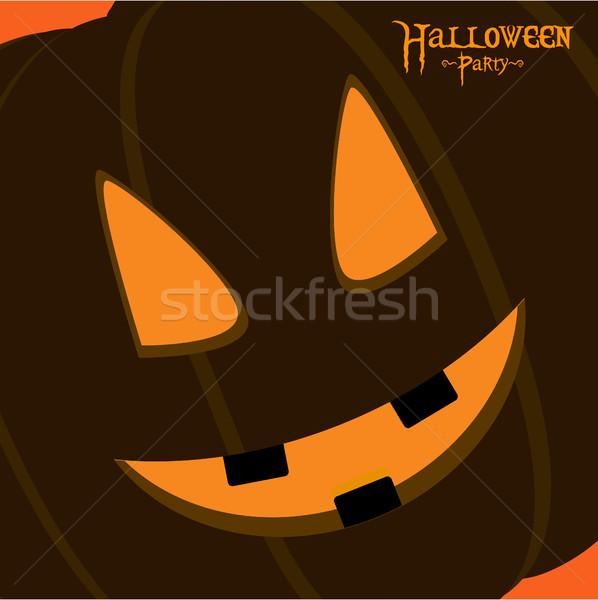 Halloween fête carte citrouille visage Photo stock © elaine