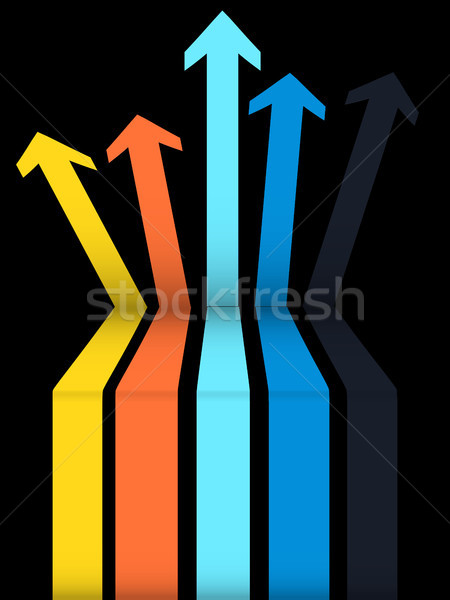 Ingesteld pijlen omhoog zwarte 3d illustration veelkleurig Stockfoto © elaine