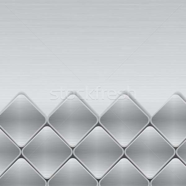 brushed metal mosaic background Stock photo © elaine