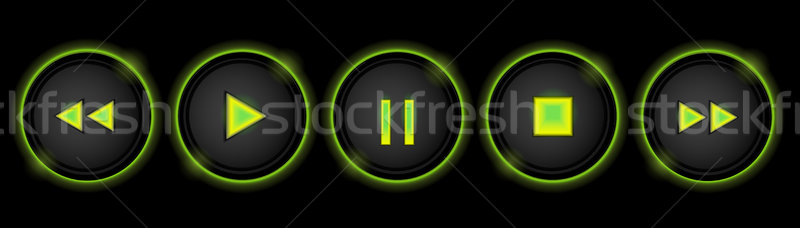 neon control buttons Stock photo © elaine