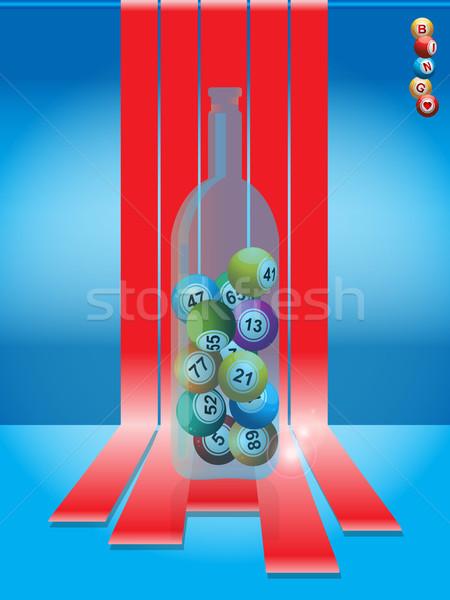 Bingo glas fles loterij Stockfoto © elaine