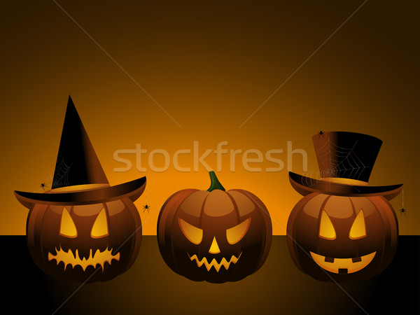 Halloween pumpkin witch Stock photo © elaine