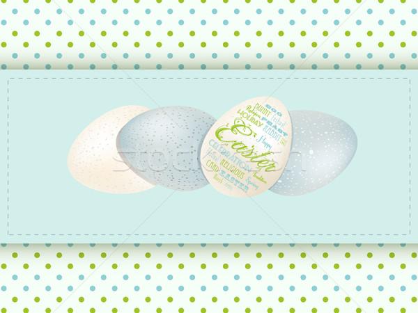 Easter egg paneel lichtblauw paaseieren Pasen Stockfoto © elaine