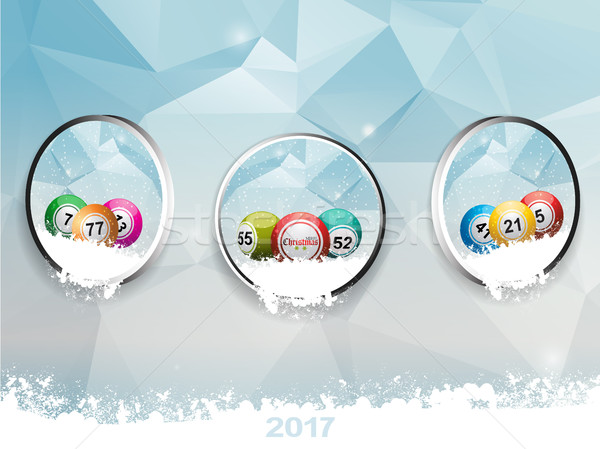 Drie christmas bingo ijs Stockfoto © elaine