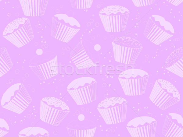 Repeating cupcake background Stock photo © elaine