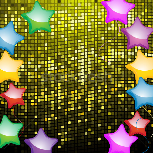 balloon mosaic and party background Stock photo © elaine