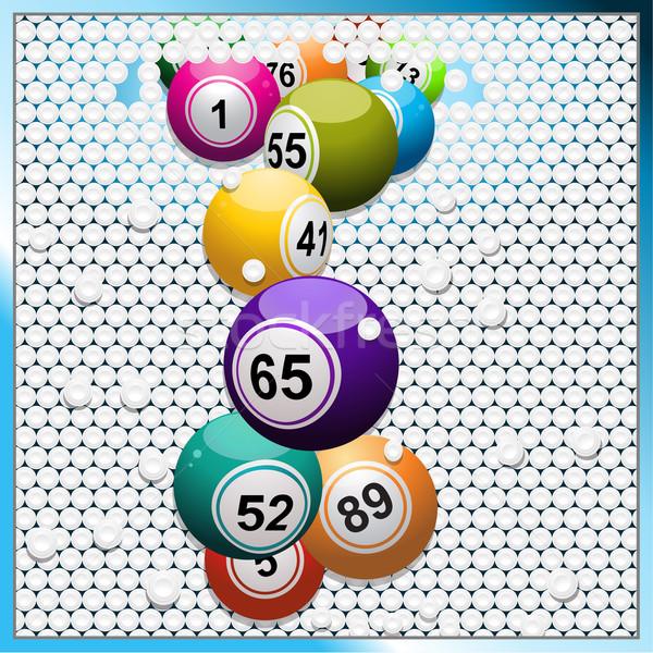 Bingo branco 3D azulejos Foto stock © elaine
