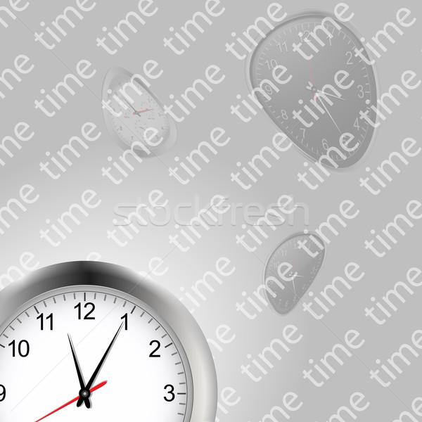 Tijd klokken witte klok misvormd tekst Stockfoto © elaine