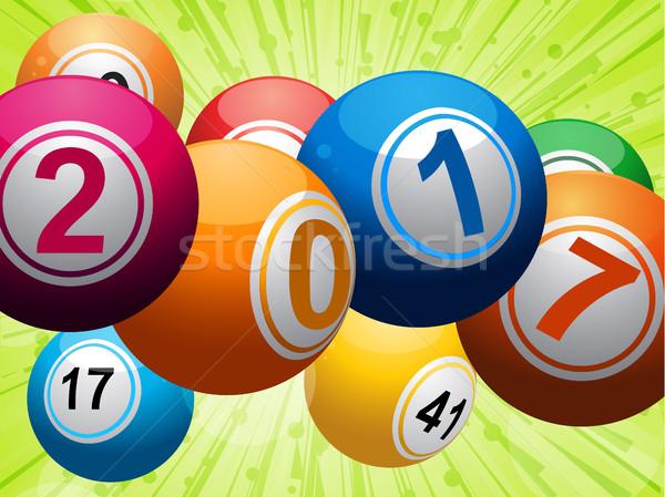 Vinte dezessete bingo loteria verde Foto stock © elaine