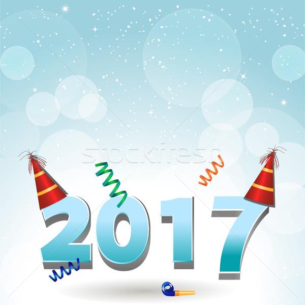 Strony konfetti nowy rok dwadzieścia siedemnaście Zdjęcia stock © elaine