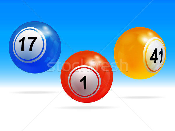 New 3D bingo lottery balls  Stock photo © elaine