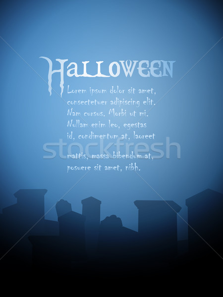 halloween tombstone background Stock photo © elaine