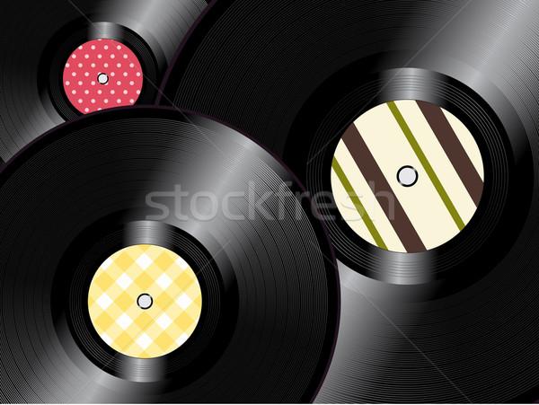 Vinyl records background Stock photo © elaine