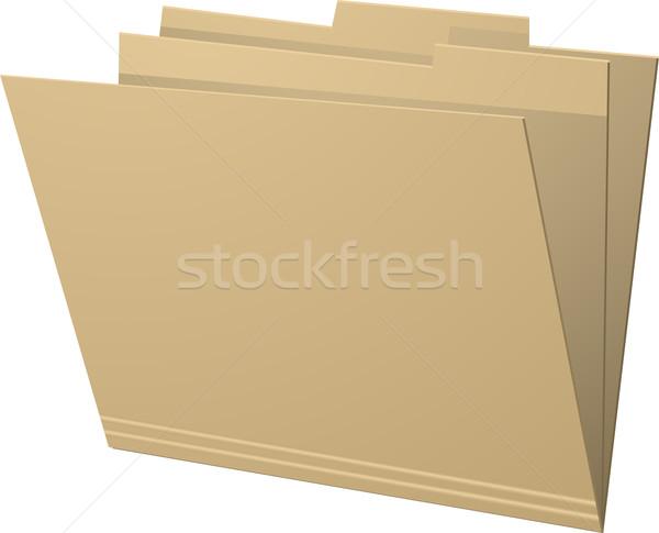 Manila dobrador artigos de papelaria documento Foto stock © elaine