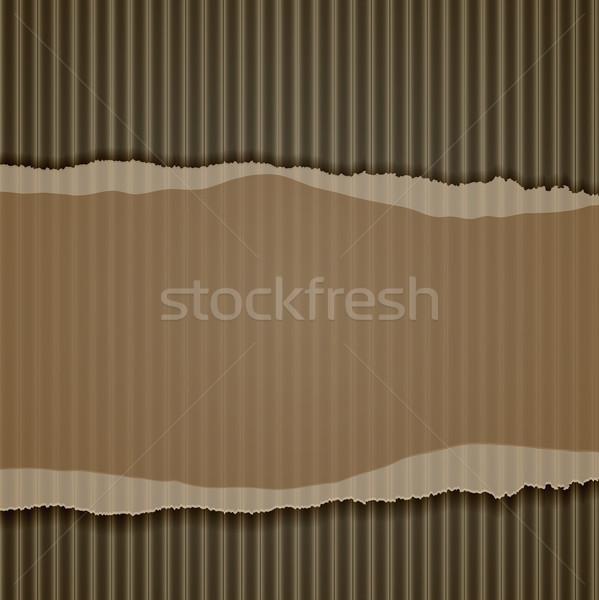 torn corrugated cardboard border Stock photo © elaine