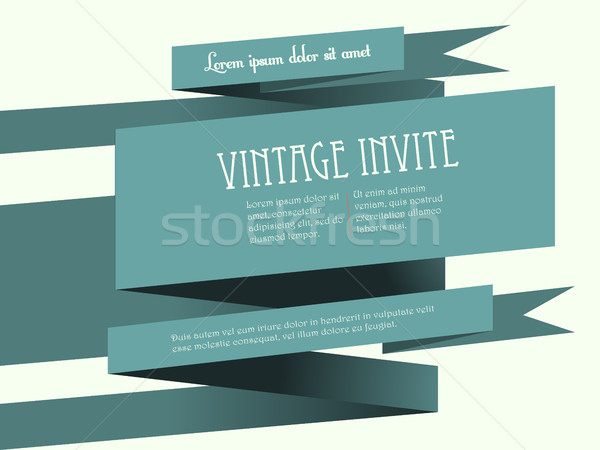 Vintage banner invite with text Stock photo © elaine