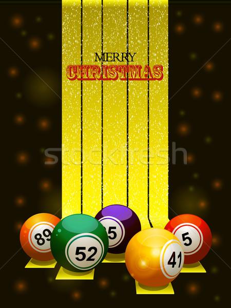 Vrolijk christmas bingo tekst gouden Stockfoto © elaine