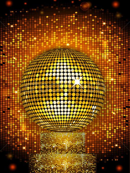Discoball suporte dourado azulejos Foto stock © elaine