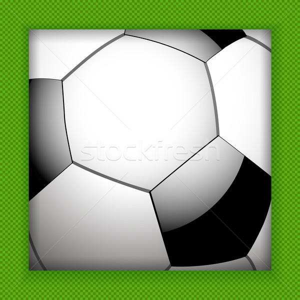Futebol sombra verde bola padrão Foto stock © elaine