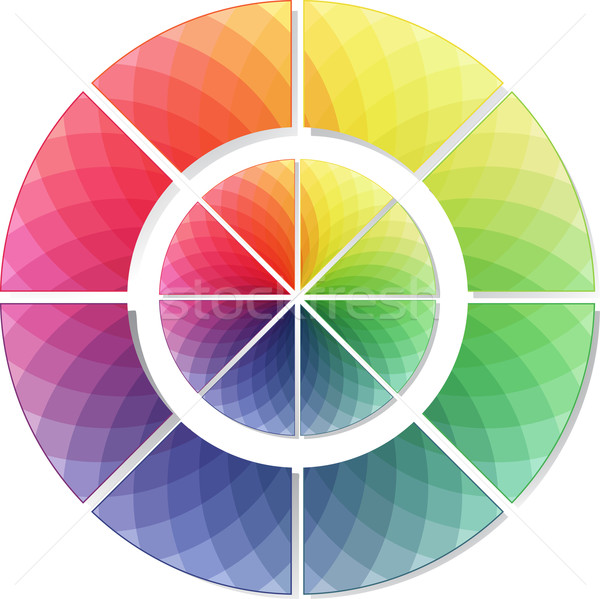 мозаика спектр цвета колесо стиль радуга Сток-фото © elaine