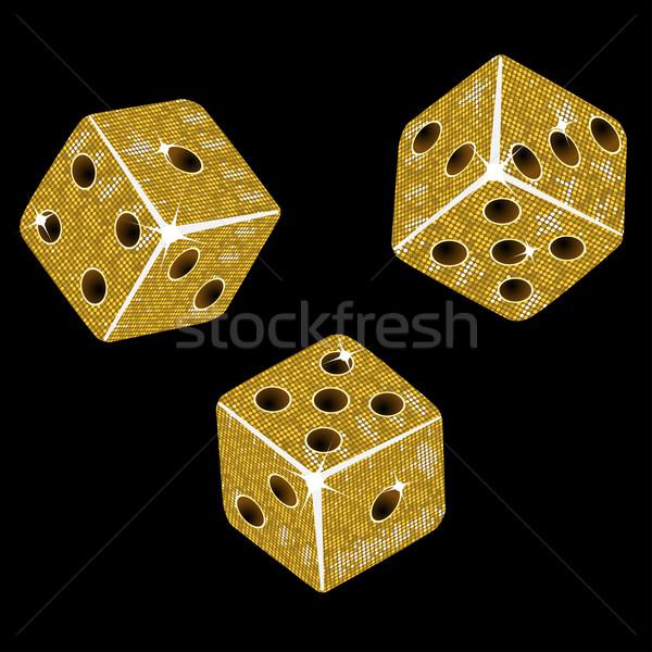 gold mosaic dice: Stock photo © elaine