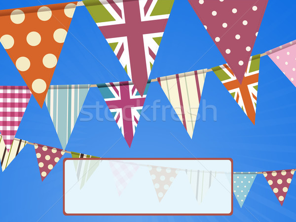 bunting on blue sky and message Stock photo © elaine