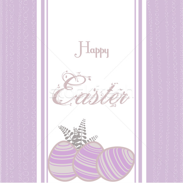 Easter background with eggs vintage pink Stock photo © elaine