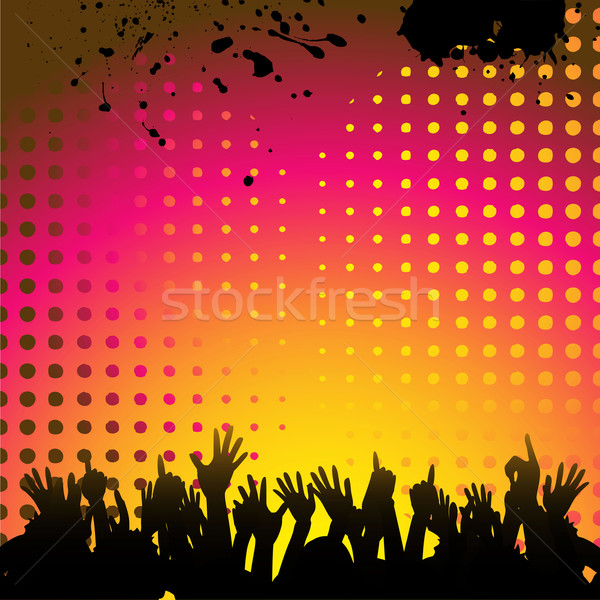Stock photo: abstract background and crowd