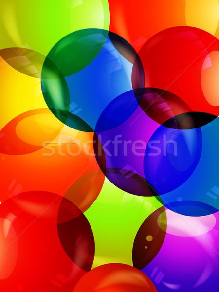 Coloré bulle coloré bulles 3D Photo stock © elaine