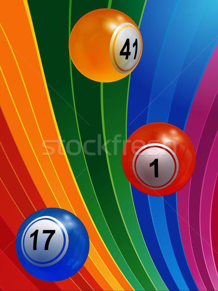 3D бинго многоцветный 3d иллюстрации полосатый Сток-фото © elaine