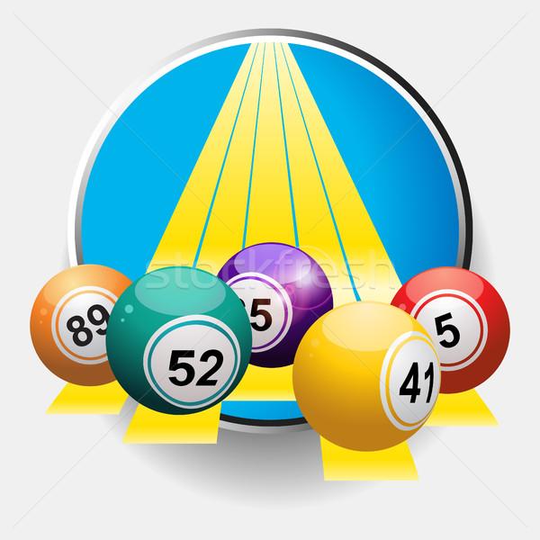 Bingo sarı sınır 3d illustration Stok fotoğraf © elaine
